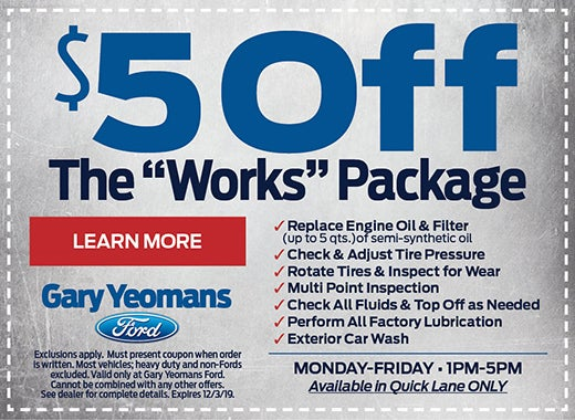Ford The Works >> The Works Package Special Gary Yeomans Ford Specials